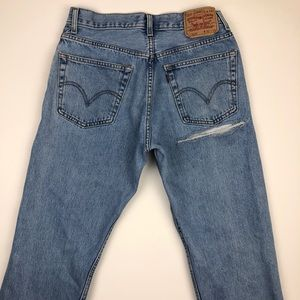 Levi's Jeans - Levi's 505 Butt Rip jeans